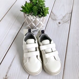 Baby Gap White Sneakers with Velcro Size 9